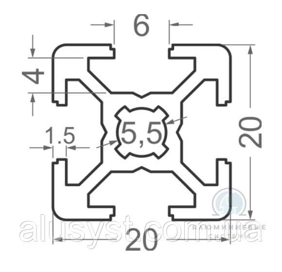 Станочный профиль ЧПУ станка| анод , 20х20
