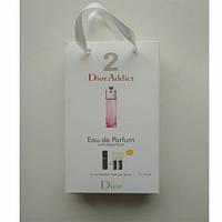 """Парфюмированная вода  с феромонами женская  Dior  """"Dior Addict 2""""   3х15мл"""