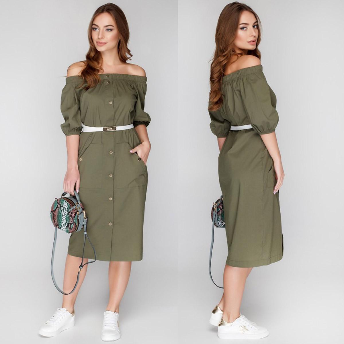 """Літнє плаття модне міді """"Сафарі"""""""