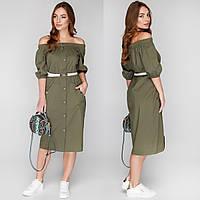 """Літнє плаття модне міді """"Сафарі"""", фото 1"""