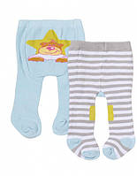 Колготки для куклы BABY BORN, 2 пары цвет голубой - серый