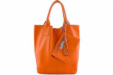 Кожаная женская сумка шоппер CRISTINA