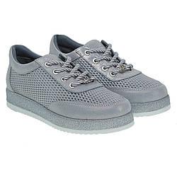 Туфли женские Alpino(кожаные, серебристые, спортивного стиля)