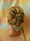 Шиньон-накладка короткий на гребешках блонд с милированием 703-24Н613, фото 2