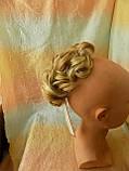 Шиньон-накладка короткий на гребешках блонд с милированием 703-24Н613, фото 4
