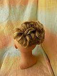 Шиньон-накладка короткий на гребешках блонд с милированием 703-24Н613, фото 3
