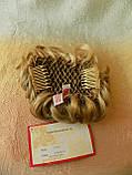 Шиньон-накладка короткий на гребешках блонд с милированием 703-24Н613, фото 6