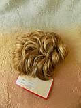 Шиньон-накладка короткий на гребешках блонд с милированием 703-24Н613, фото 7