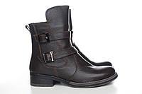 Villomi женские ботинки из коричневой кожи