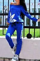 Стильный спортивный костюм Адидас, цвет синий электрик