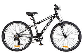 """Велосипед 24"""" LEON JUNIOR AM Vbr 2018 (чёрно-белый) OPS-LN-24-018"""