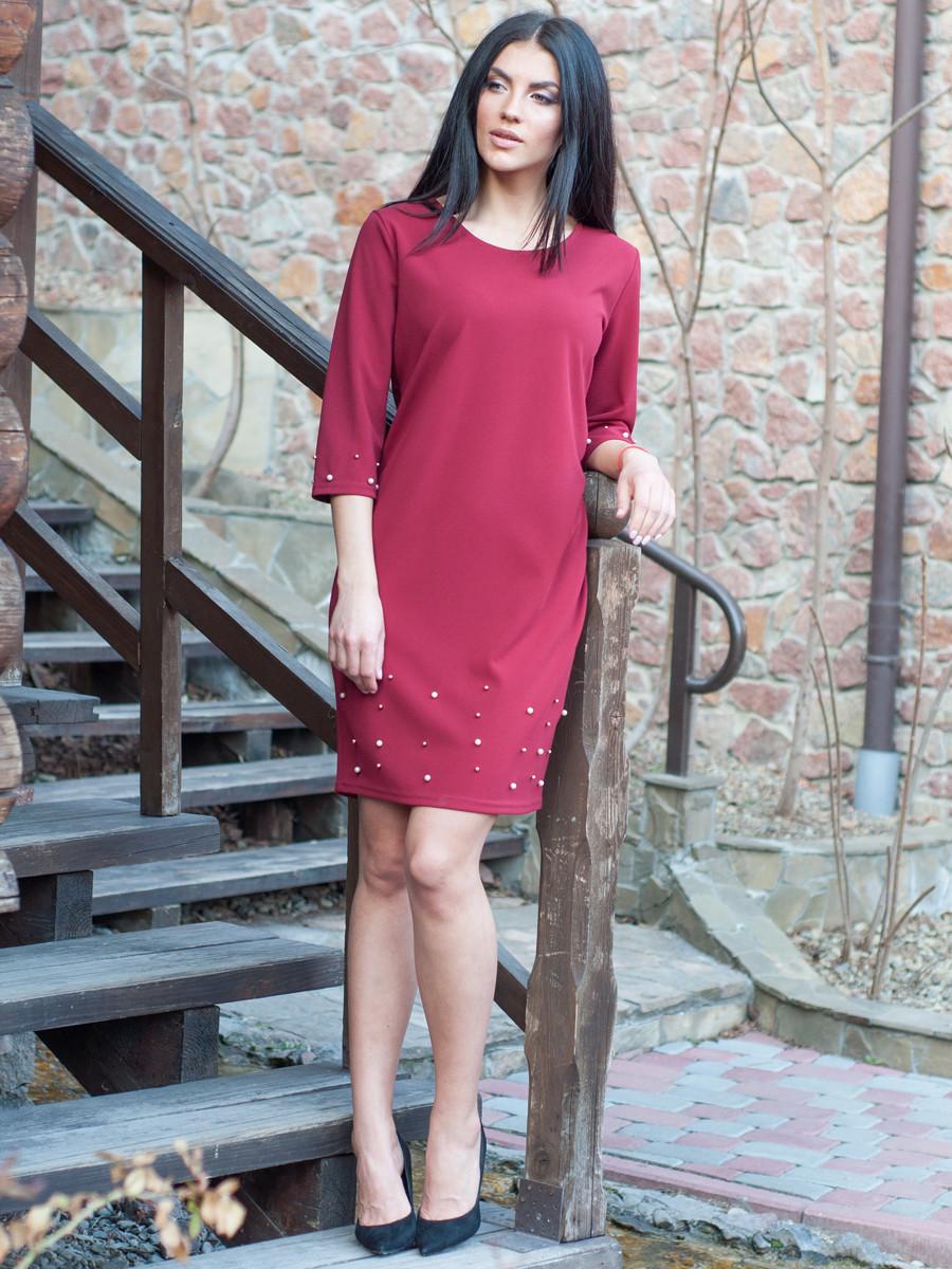Повсякденне плаття з намистом вище коліна