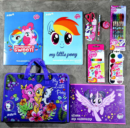 Школьный набор первоклассника для девочки Kite Little Pony, фото 2