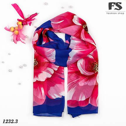 Лёгкий синий  шарф Cute, фото 2