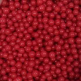 Цукрові перлинки Червоні 4 мм та 6 мм, упаковка 1 кг / Сахарные жемчужины Красные Amarischia
