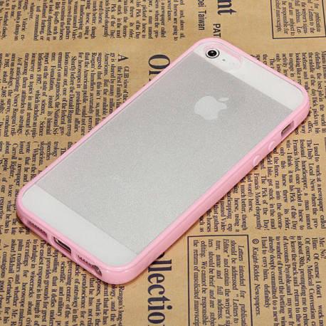 Чехол TPU Накладка для IPhone 5/5S Светло-розовый