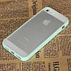 Чехол TPU Накладка для IPhone 5/5S Светло-зеленый