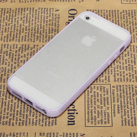 Чехол TPU Накладка для IPhone 5/5S Фиолетовый
