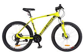 "Велосипед 26"" Optimabikes F-1 AM 14G  HDD  рама-19"" Al желтый неон (м)   2018  OPS-OP-26-131"