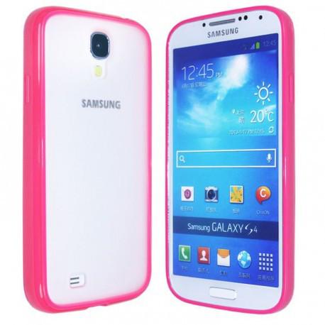 Чехол TPU Накладка для Samsung S4 Розовый