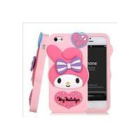Силиконовый Чехол My Melody на IPhone 5/5S Розовый