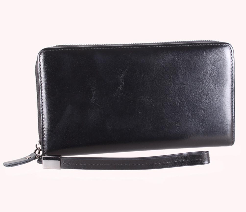 Мужской кожаный клатч BLACK001-2 Черный