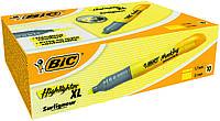 Текстовый маркер Bic жолтый брайт лайнер XL , фото 1