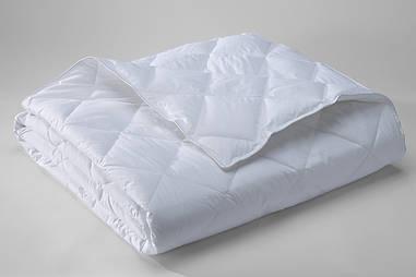 Одеяло стеганое 140х210 белое,микрофибра, летнее