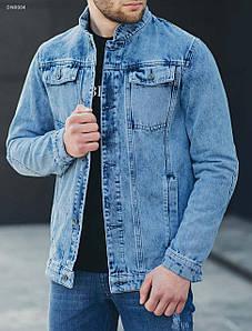 Мужская синяя джинсовая куртка Staff ros с1