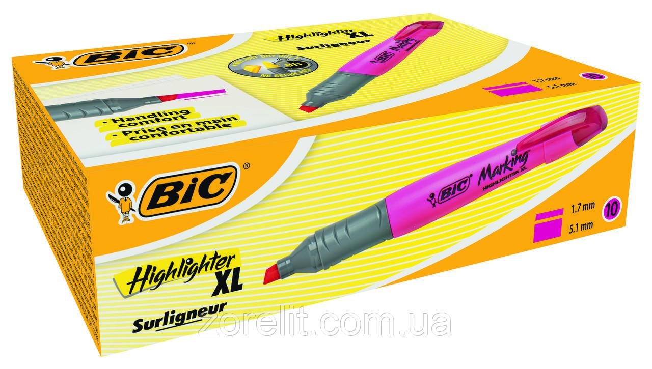 Текстовый маркер Bic розовый брайт лайнер XL