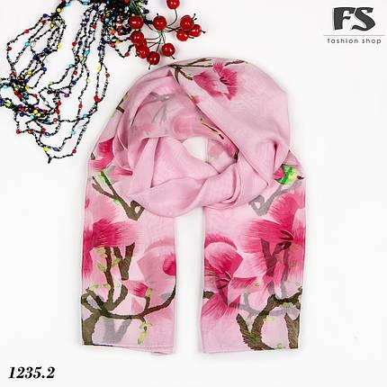 Лёгкий розовый  шарф Steam, фото 2