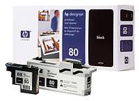HP 80, Печатающая головка DesignJet, Черная, со средством очистки (C4820A)