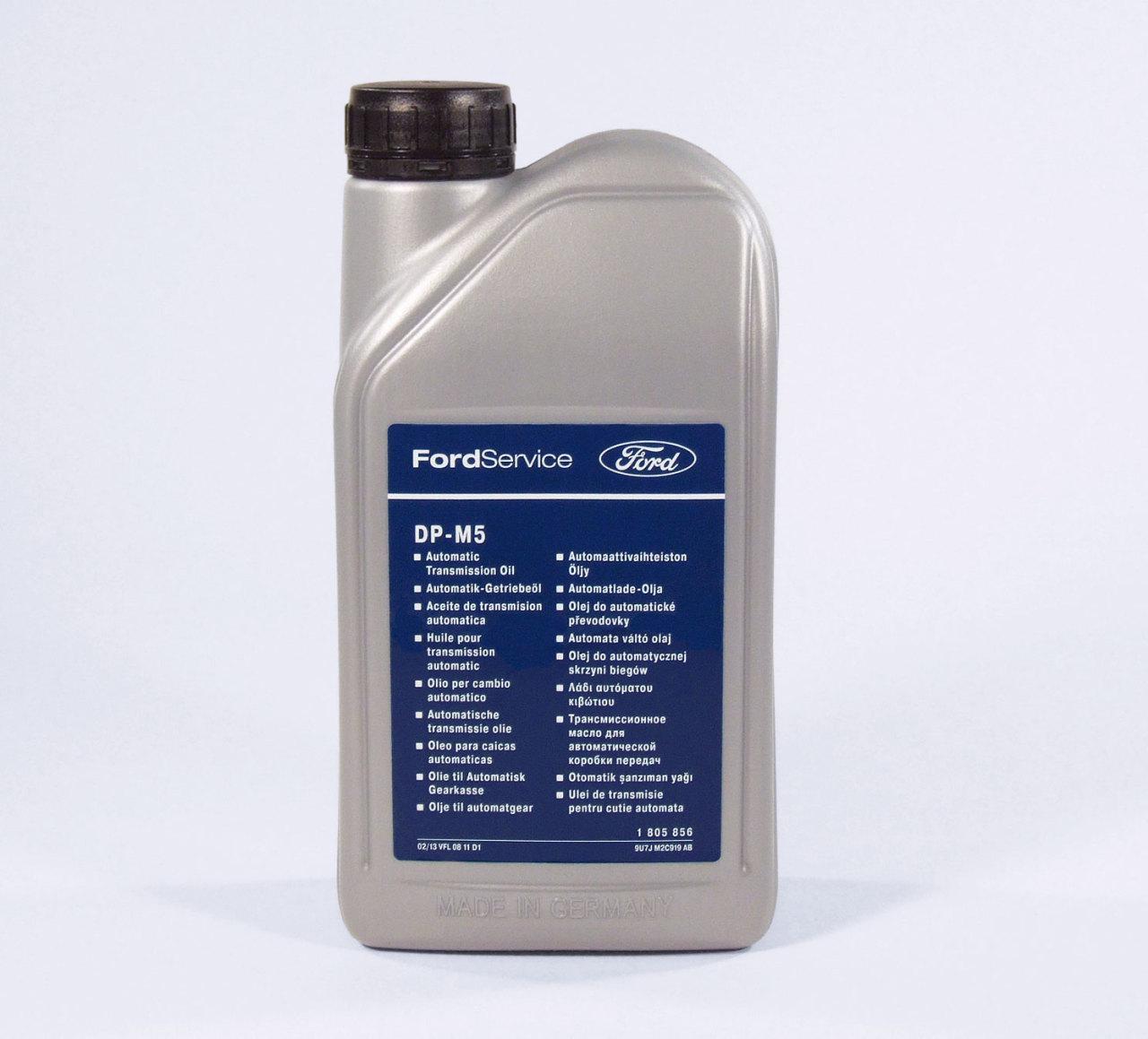 Трансмиссионное масло для автоматической коробки передач Ford DP-M5, 1л WSS-M2C919-E