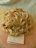 Шиньон-накладка короткий на гребешках пшеничный блонд 988-24ВТ613, фото 5