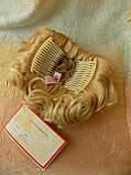Шиньон-накладка короткий на гребешках пшеничный блонд 988-24ВТ613, фото 6