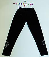 Чорні оксамитові лосини для дівчинки (зріст 110-116 см)