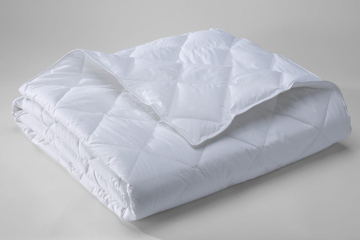 Одеяло 200х220  стеганое белое микрофибра