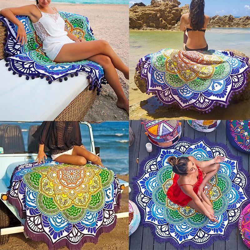 Пляжний килимок Яскрава Мандала