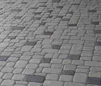 Тротуарная плитка Старый город 6cм Серый