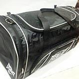 Спортивні дорожні сумки Nike (чорний+сін плащівка)35*65, фото 2