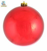 Шар новогодний красный глянец