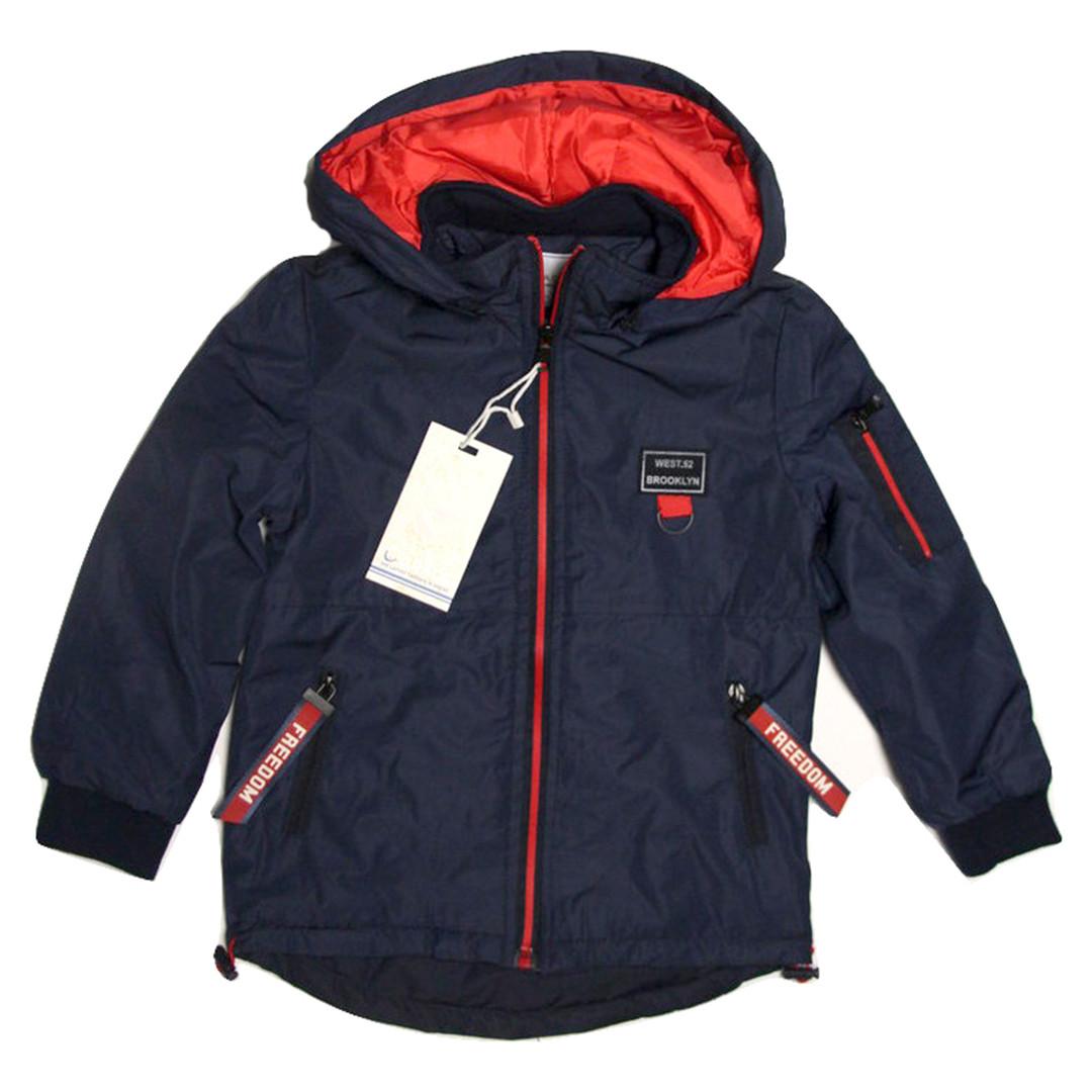 Куртка-парка Grace для мальчика от 2 до 6 лет синяя