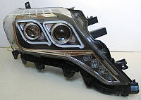 Передние Toyota Prado 150 альтернативная тюнинг оптика фары передние на TOYOTA Тойота Prado 150 рестайлинг