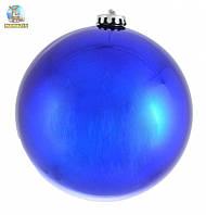 Шар новогодний синий глянец