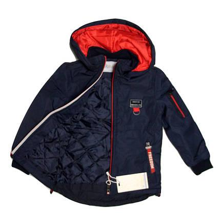 Куртка-парка Grace для мальчика от 2 до 6 лет синяя, фото 2