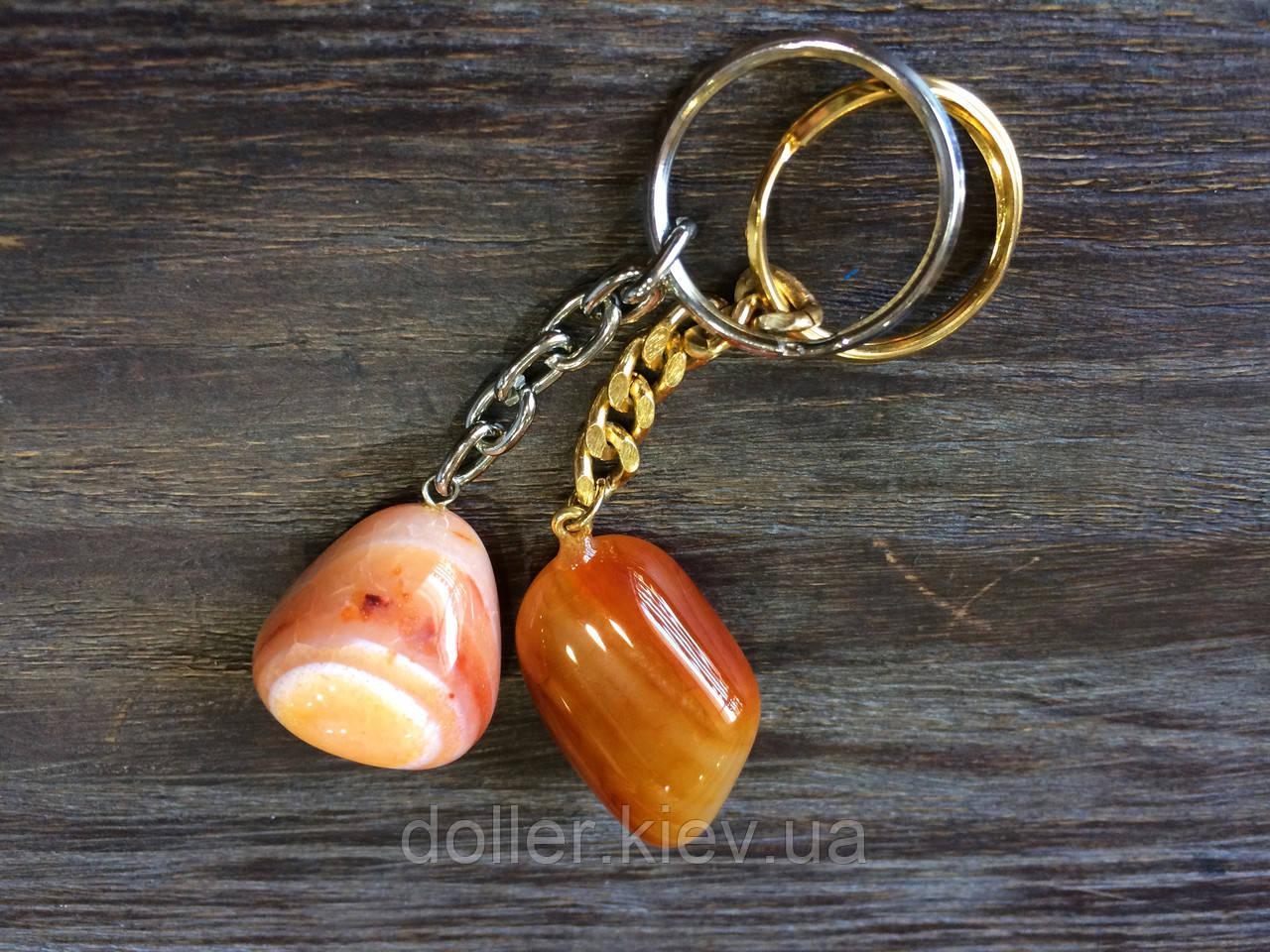 Брелок для ключей с сердоликом
