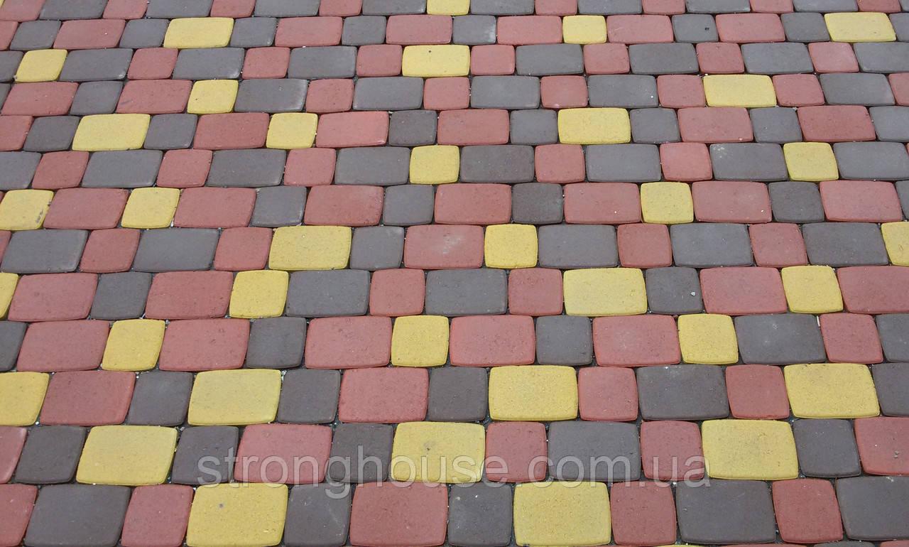 Тротуарная плитка Старый город 6cм цветной