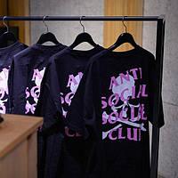 Футболка чёрная Anti Social social club mastermind JAPAN logo, фото 1