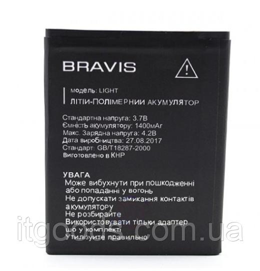 Оригинальный аккумулятор (АКБ, батарея) для Bravis Light 1400mAh