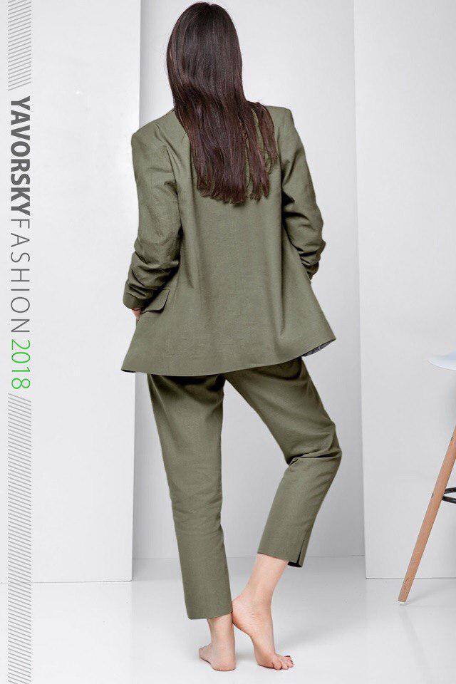 b9faac4a856062a Женский костюм из льна 42--48 цвет оливковый: продажа, цена в ...
